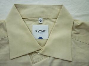 E7914-Olymp-Tendenz-Businesshemd-Kombimanschette-41-hellbeige-meliert-Unifarben
