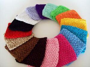 6 Inch Wide Elastic Crochet Tutu Top Headband For Children Hair Band