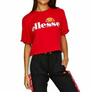 ELLESSE-ALBERTA-CROPPED-T-SHIRT-BNWT-RED-SIZE-UK-XS-S-L-LAST-FEW