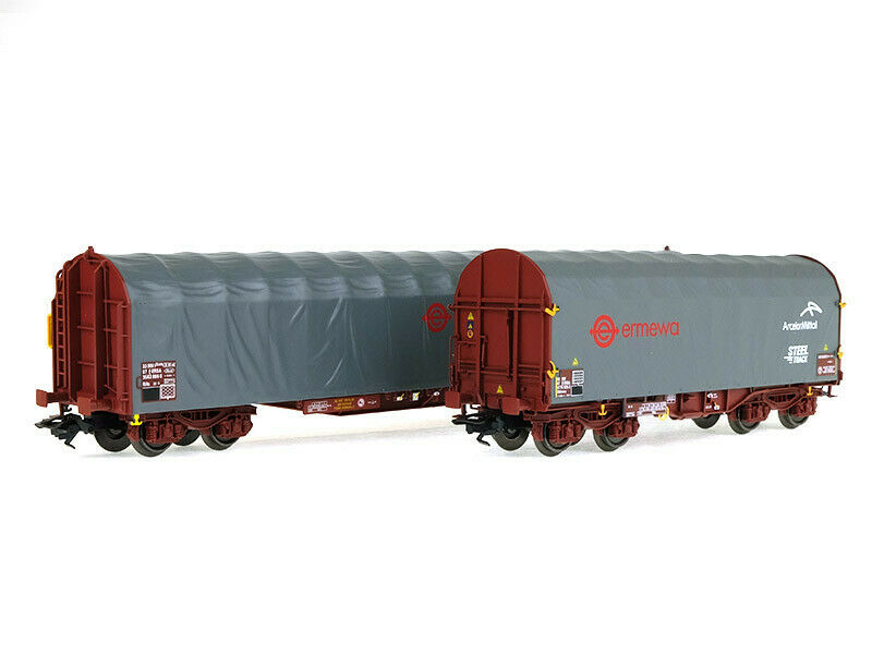 Coffret 2 wagons bâchés Ermewa Ep VI SNCF  HO  MARKLIN 47102