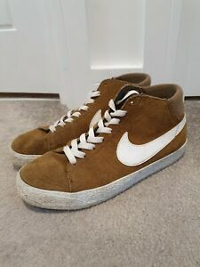 Nike-SB-Blazer-Mid-LR-Military-Brown-White-Trainers-UK-Size-8