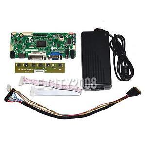 (HDMI + DVI + VGA + audio) LCD Controller Board Driver pour B156XW02 + Adaptateur secteur NEUF