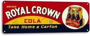 Royal-Crown-RC-Cola-Carton-Soda-Vintage-Metal-Decor-Sign