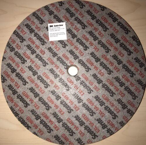 2 Pcs 3M Scotch-Brite EXL Unitized Wheel 10 in x 3//4 in x 3//4 in 6A MED