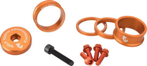 Wolf Tooth Components BlingKit: Headset Spacer Kit 3 5,10 Orange 15mm