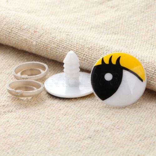 Ojos de seguridad de plástico dibujos animados 12 Tamaños Juguete Muñeca de oso de peluche que Hágalo usted mismo Craft 10//50