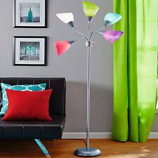 Adjustable Modern Floor Lamp Multicolor Shades Home Decor Lighting Fixture Metal