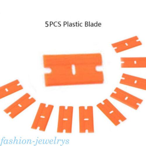 Plastic Car Sticker Remover Double Edge Blade Razor Scraper Window Spatula Tool
