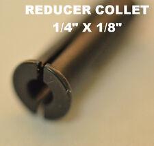"""Collet Die Grinder Tool Bit Foredom Dremel 1/4"""" 1/8"""" Adapter Bushing Steel NEW"""