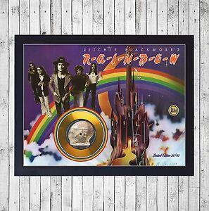 RAINBOW-RITCHIE-BLACKMORE-039-S-CUADRO-GOLD-O-PLATINUM-CD-EDICION-LIMITADA-FRAMED