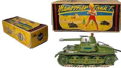 """Autos & Lkw Ultra Knappe West-german Gescha """" Manovrier Tank F R/c 65-6-f Blech Tank Spielzeug"""