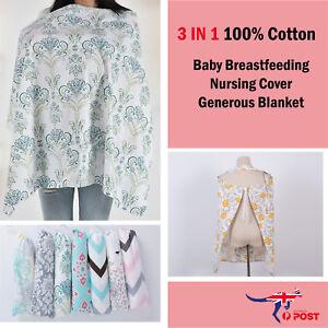 100-Breathable-Cotton-3-in-1-Baby-Breastfeeding-Nursing-Cover-Generous-Blanket