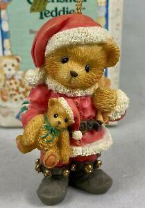 ENESCO CHERISHED TEDDIES CHRISTMAS ORNAMENT BEAR DRESSED AS SANTA VINTAGE 1995
