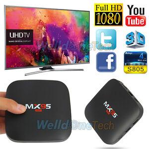 Mini mx95 8G Amlogic S805 Quad Core Android 4.4 Smart TV Box Wifi 3D set top box