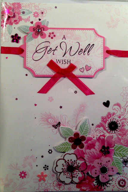 Thank you 3d greetings card butterfly effect delivery 286 ebay a get well wish 3d greeting card ribbon and sequence design free delivery 276 m4hsunfo