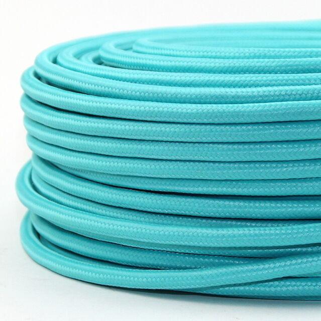 Textilkabel Stoffkabel Lampen-Kabel türkis mint-grün 3-adrig Stromkabel Elektro
