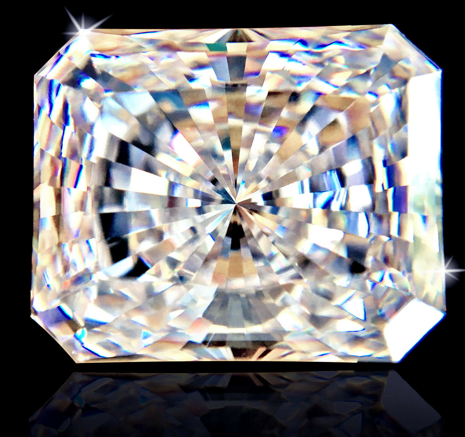 12 ct Radiant Cut Extreme Fire Top CZ Imitation Moissanite Simulant 17 x 12