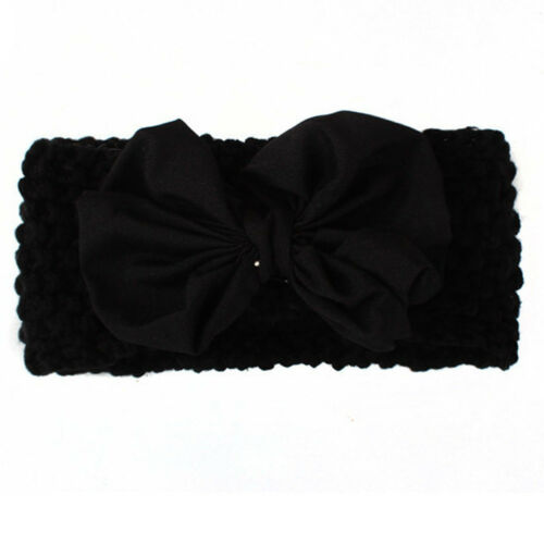 Cute Newborn Baby Girl Kids Knitted Headband Bow Hair Band Accessories Headwear