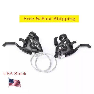 Pair 7-Speed Bike Gear Shifters Set MTB Gear Shifter Brake Lever Transmission