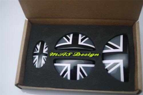 MINI COOPER Clubman S ONE SD JCW Door emblem Cover in Black Union Jack Style