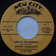 JOHNNY HONEYCUTT: Love By Numbers NEW CITY funk SOUL 45 hear it