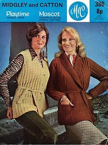 Vintage 1970039s Knitting Pattern For Lady039s TieBelt Jacket amp Waistcoat - Alexandria, West Dunbartonshire, United Kingdom - Vintage 1970039s Knitting Pattern For Lady039s TieBelt Jacket amp Waistcoat - Alexandria, West Dunbartonshire, United Kingdom