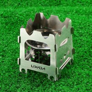 NEW Outdoor Stainless Steel Wood Stove Portable Wood Burning for Hiking I4A6