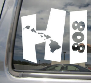 Hawaii Island Aloha State Mahalo Vinyl Sticker