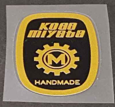 référence SKU Miya 721 Miyata Head badge decal-rose//orange