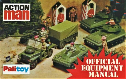 die cut ACTION MAN STICKERS Palitoy Infantry Support JEEP