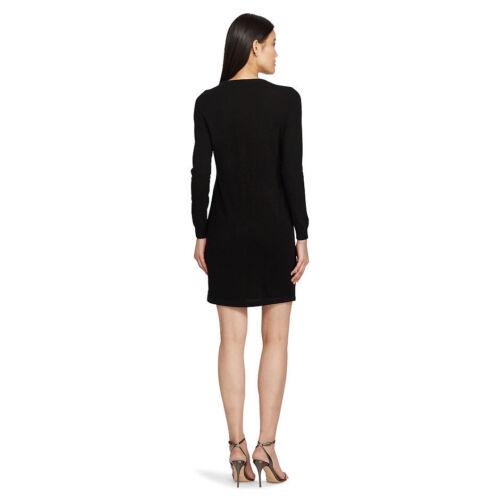Ralph Lauren Shift Cashmere Leather Black Dress Polo Ny frqzxrH