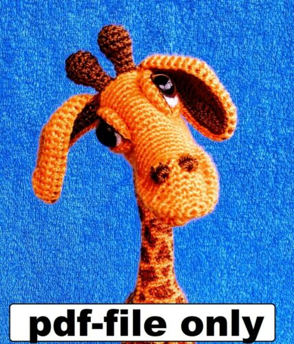 Crochet pattern Giraffe Amigurumi Animal Doll