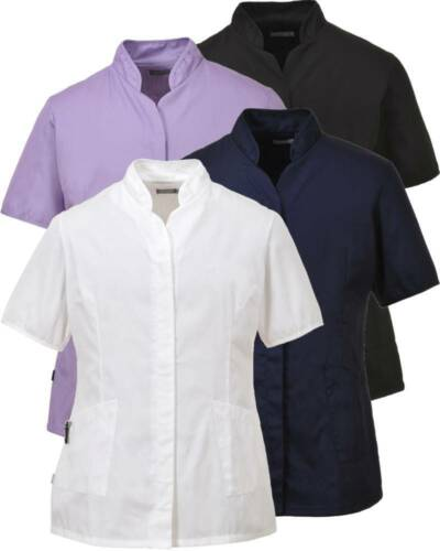 PORTWEST LW12 black,navy,white or lilac ladies premier healthcare tunic XS-3XL