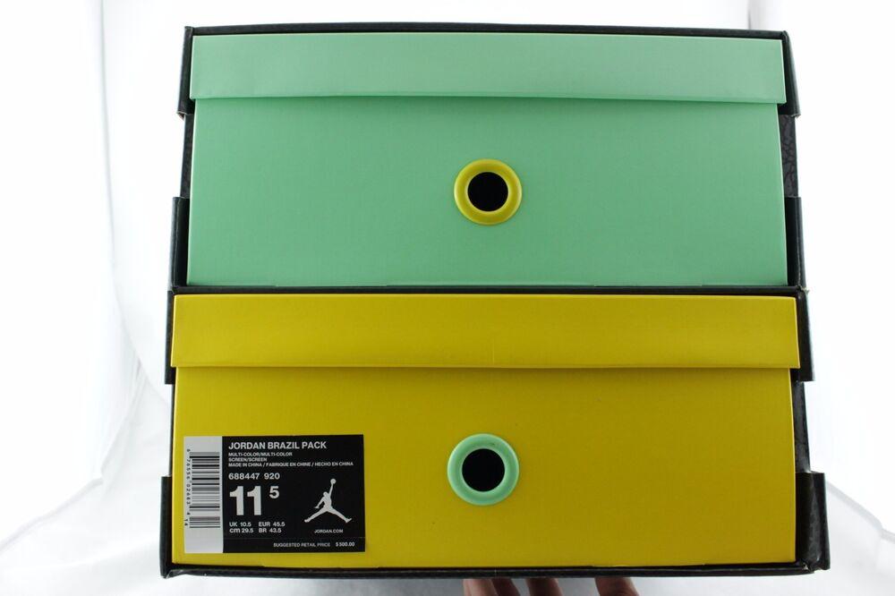 DS Nike Air Jordan Brazil Pack Retro 7 6 VI CP3.VII AE 7 Retro World Cup 688447 920 5a6263