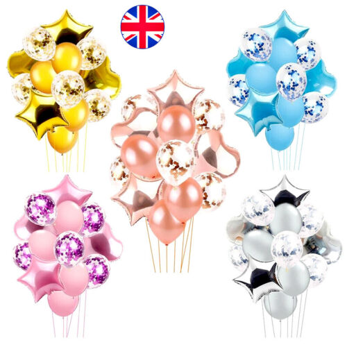 14pcs//set Wedding Birthday Balloons Latex Foil Ballons Kids Boy Girl Baby Party