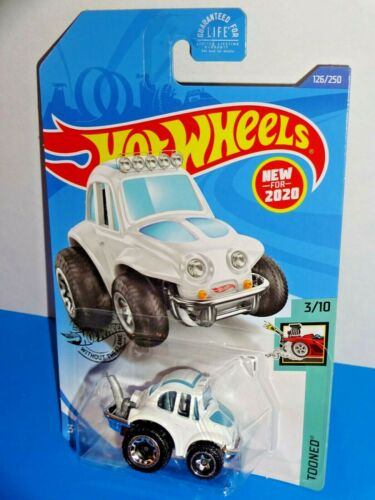 Details about  /Hot Wheels New For 2020 Tooned Series #126 /'70 Volkswagen Baja Bug White