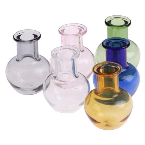 12 Dollhouse Miniature Toy Porcelain Decoration Vase Pot WF Glass 1