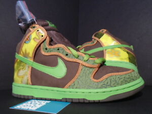 a9be2305bef99c 2005 Nike Dunk High Pro SB DE LA SOUL BAROQUE BROWN ALTITUDE GREEN ...