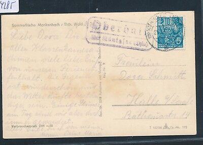 Erfinderisch 24285 Karte 1956 Ddr Landpost Ra2 Oberhain über Königsee thür.
