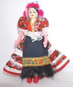 Puppe Trachtenpuppe Ungarn Frau Tracht Ca 22,5 Cm Kopf Hartplast Stoffkörper Sonstige