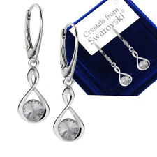 1ea7613ad 925 Sterling Silver Leverback Earrings Infinity Rivoli Crystals from  Swarovski®