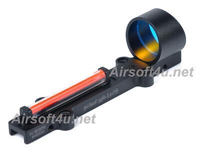 NB 1X28 Collimeter Sight Optic Fiber Red Circle Dot Sight For Shotgun In Black