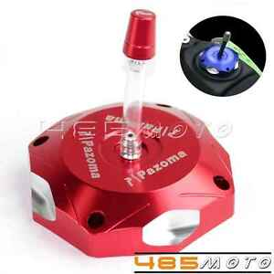 1X Motorcycle Fuel Gas Tank Cap Cover CNC Billet For Yamaha YZ125 YZ250 15 Red