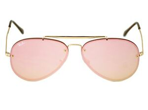 eb5d38313224d8 Details about Ray-Ban RB3584N Blaze Aviator 9052 E4 Gold Frame Pink Mirror  Lenses Unisex 58mm