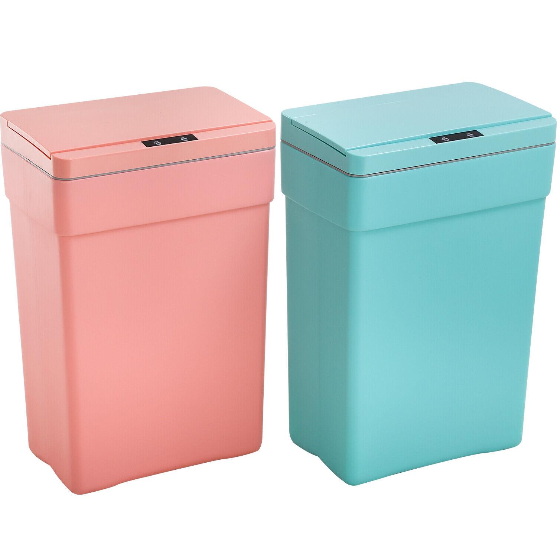 Greenbrier International Doll Sized Hot Pink Kitchen Swing-top Wastebasket Trash Can 9.5 x 7