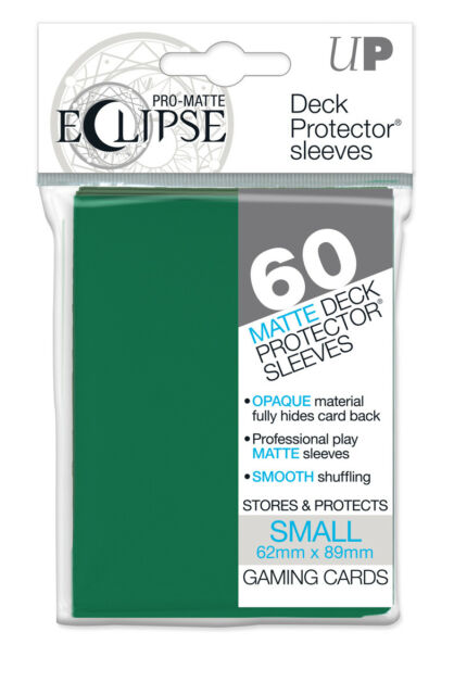 Ultra PRO SMALL Eclipse Matte Deck Protector Sleeves Card GREEN 60ct 62 x 89mm