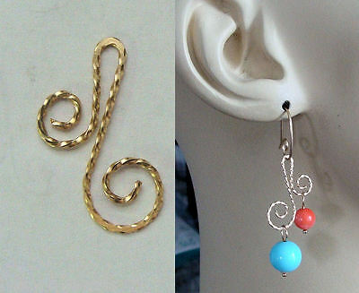 FABULOUS Double Add Ons to Enhance Our INTERCHANGEABLE Earring Charms YG or SS