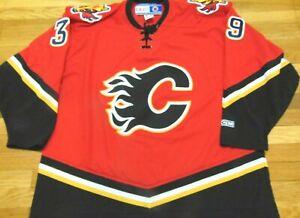 Vintage Ccm Nhl Calgary Flames Red 39 Jersey Size 2xl Ebay