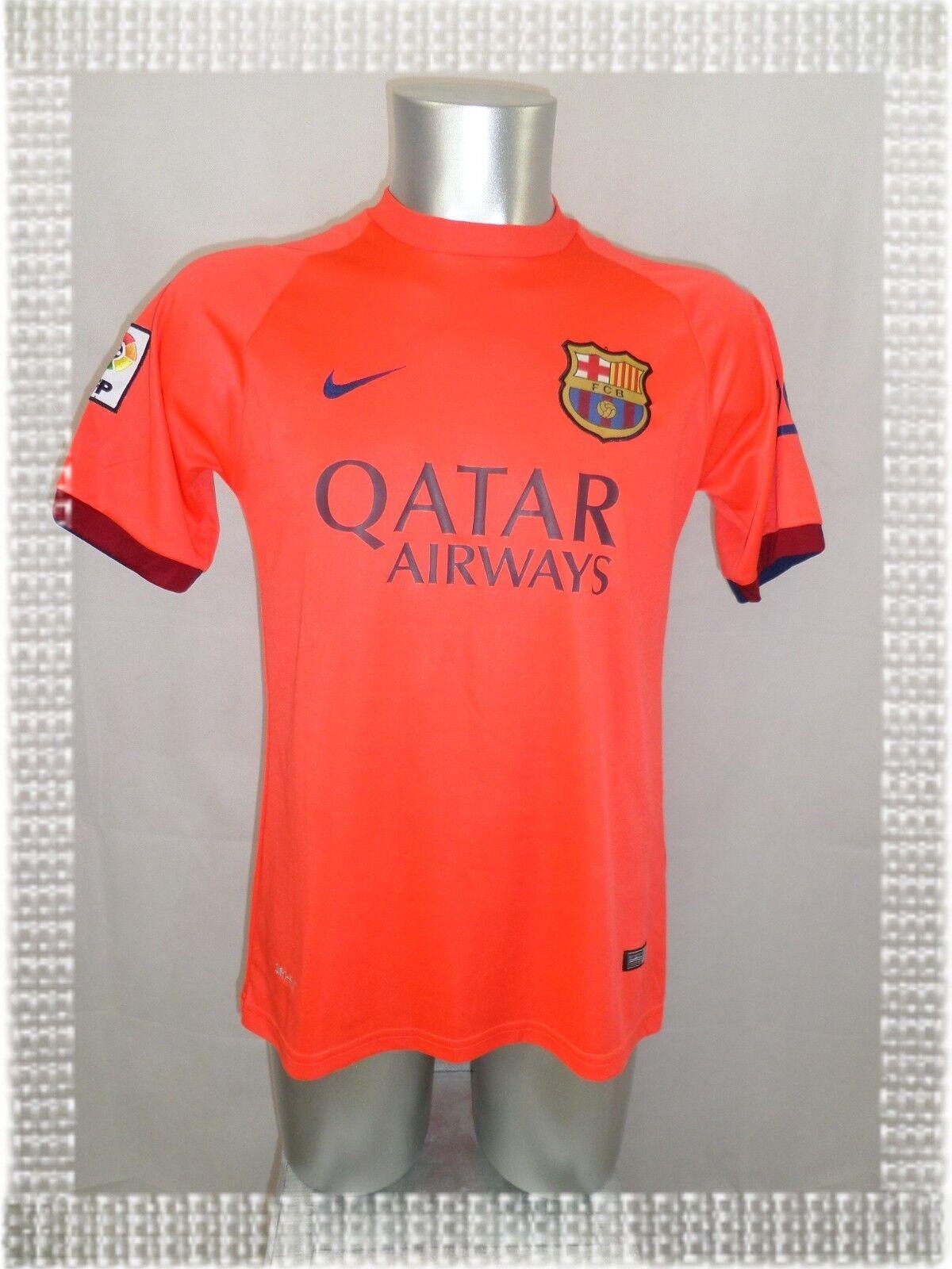 A - Maillot Foot FC Barcelone Nike naranja  Fluo Qatar Airways N° 31 Munir T-XL