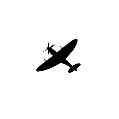 Spitfire Car Sticker Remembrance Day Window Mug Sticker Decal Poppy Heroes Vinyl